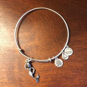 Alex and Ani Bracelet with Mermaid Charm